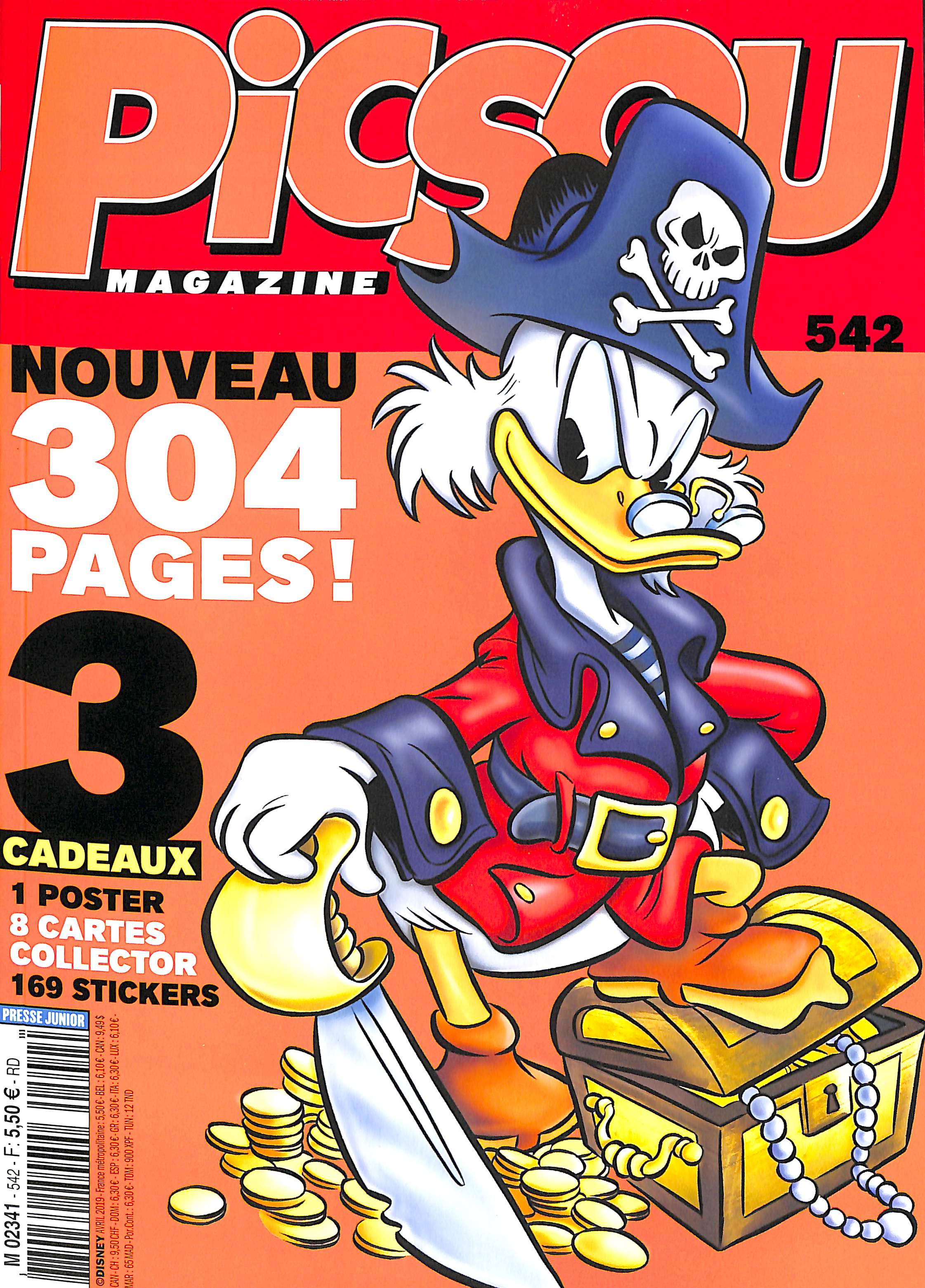 La fin des Jouets Picsou Magazine : Nouvelle formule Picsou-magazinen-542avril-2019