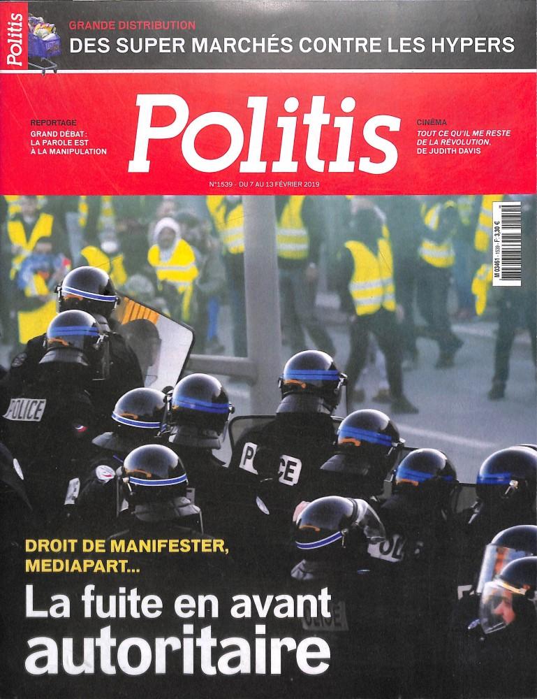 Politis N° 1536 Janvier 2019