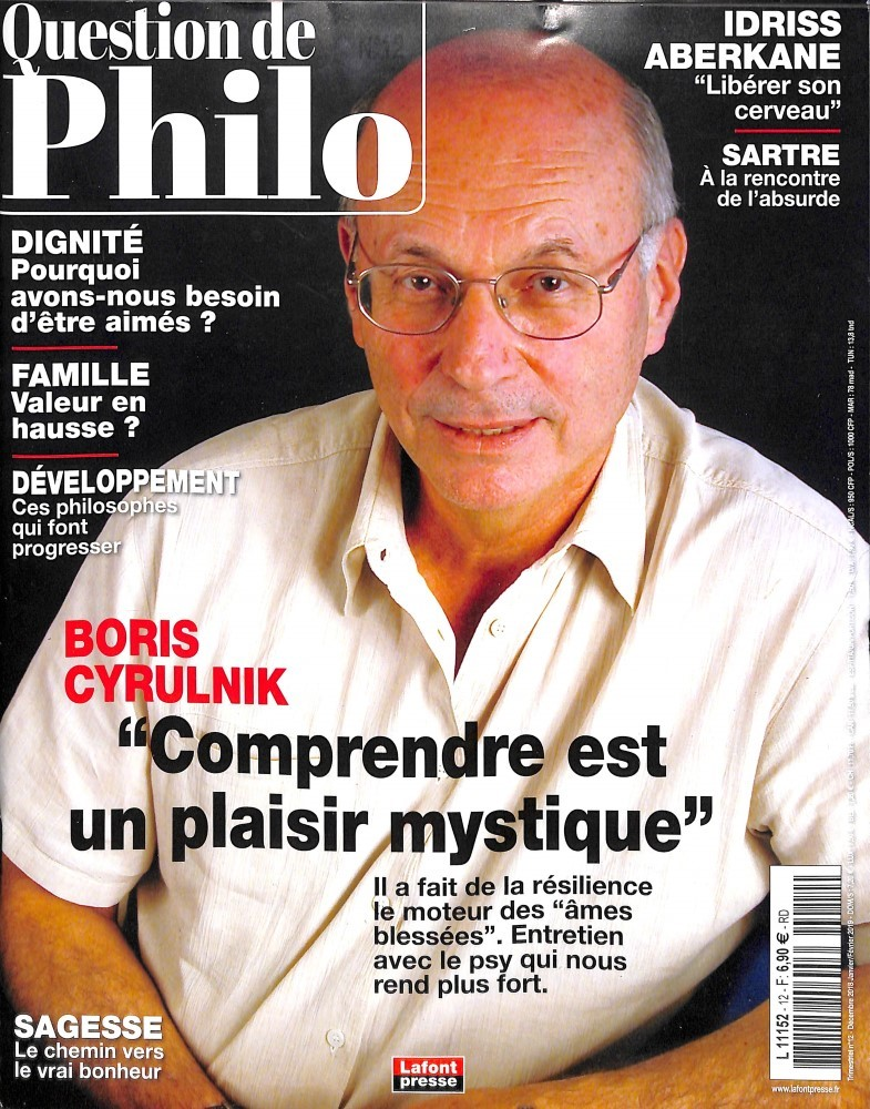 Question de philo N° 12 Décembre 2018