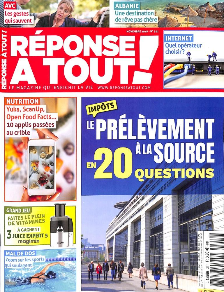 Réponse à Tout ! N° 341 October 2018