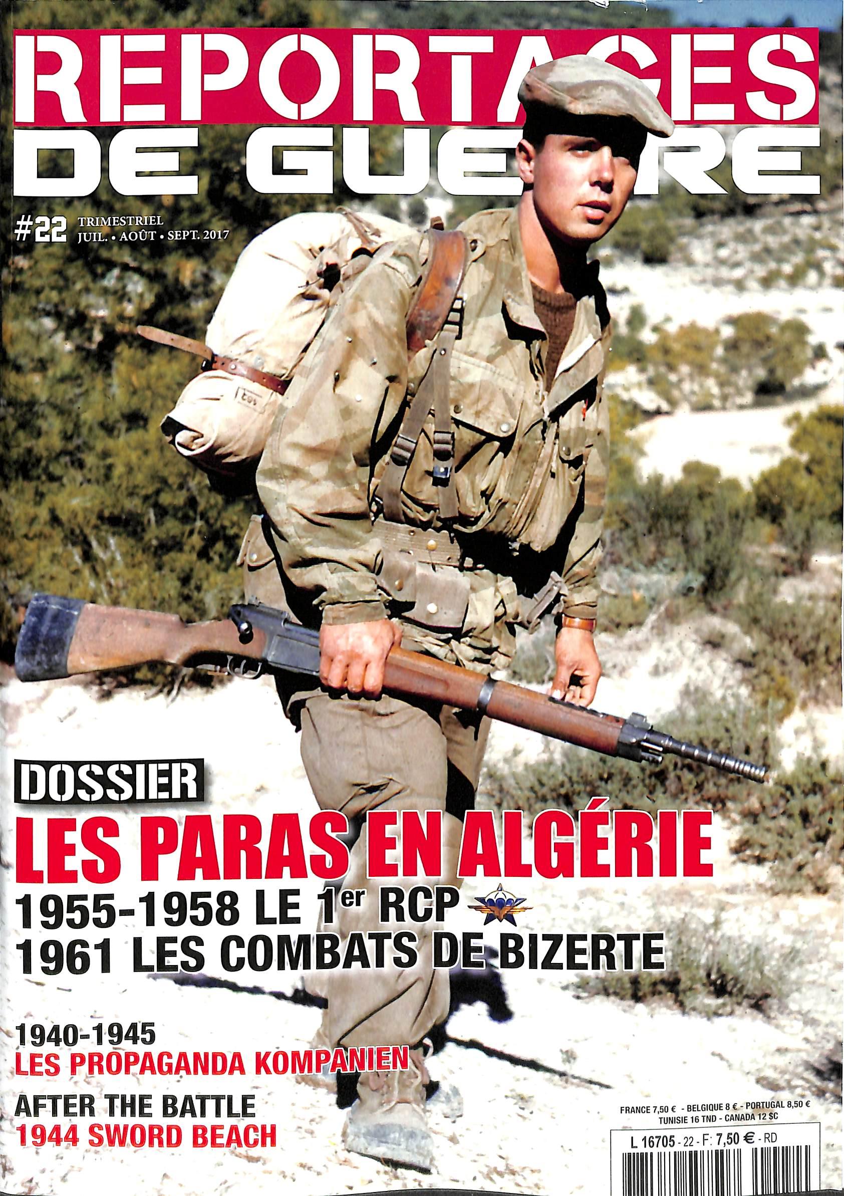 Reportages de guerre N° 22 Juillet 2017