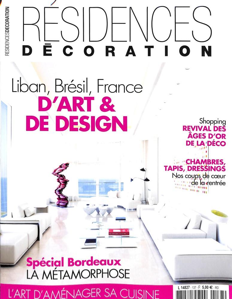 Résidences décoration N° 137 Août 2017