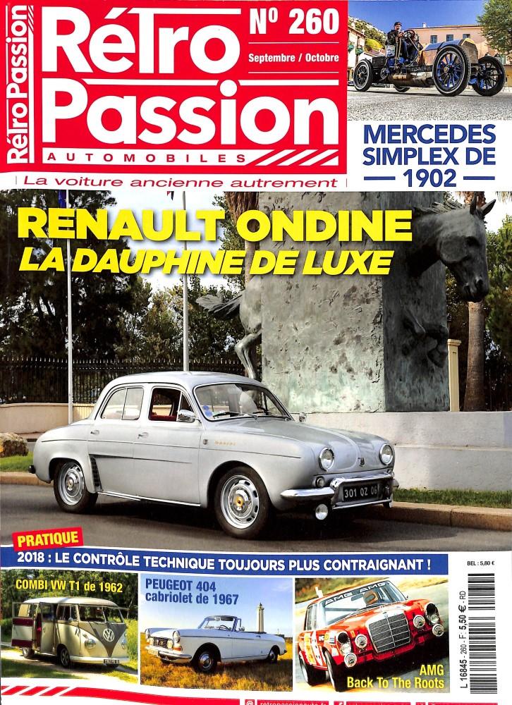 Rétro passion automobiles N° 260 Septembre 2017