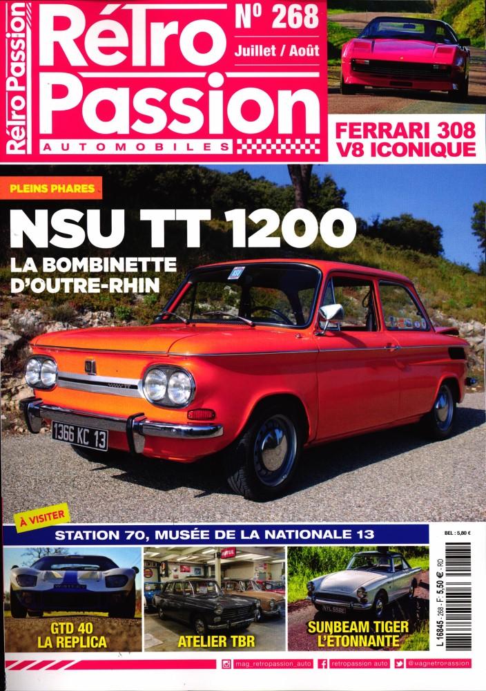 Rétro passion automobiles N° 268 Juillet 2019