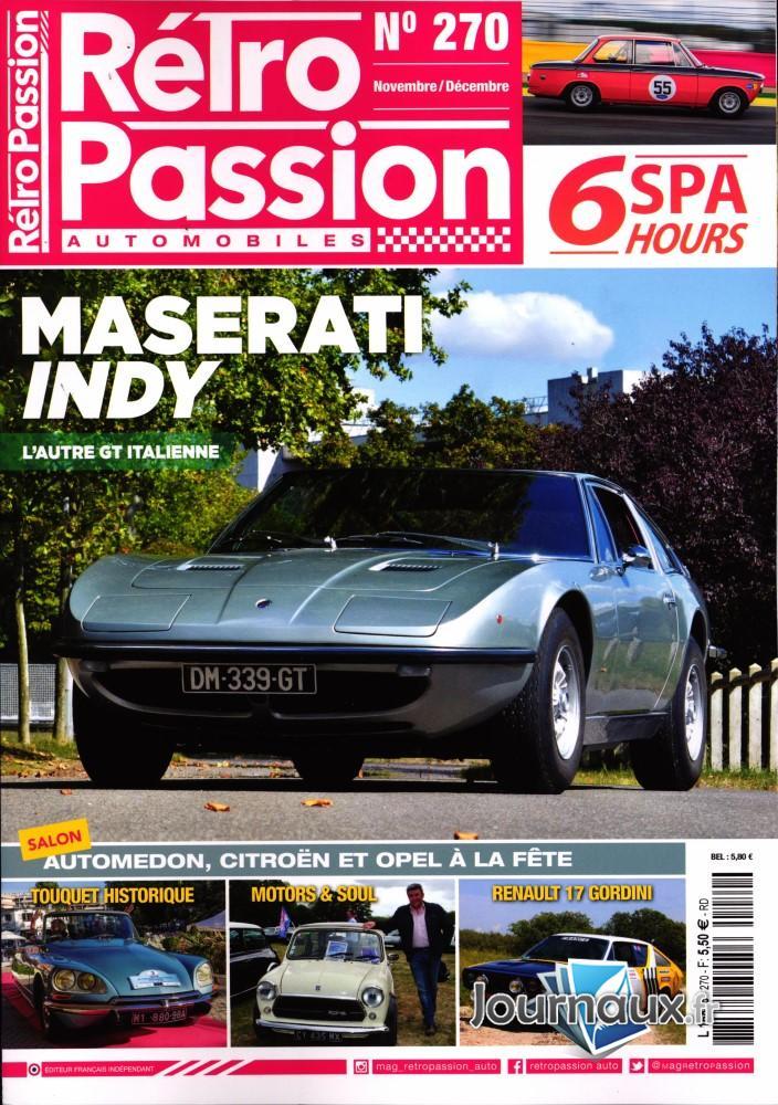 Rétro passion automobiles N° 270 Novembre 2019
