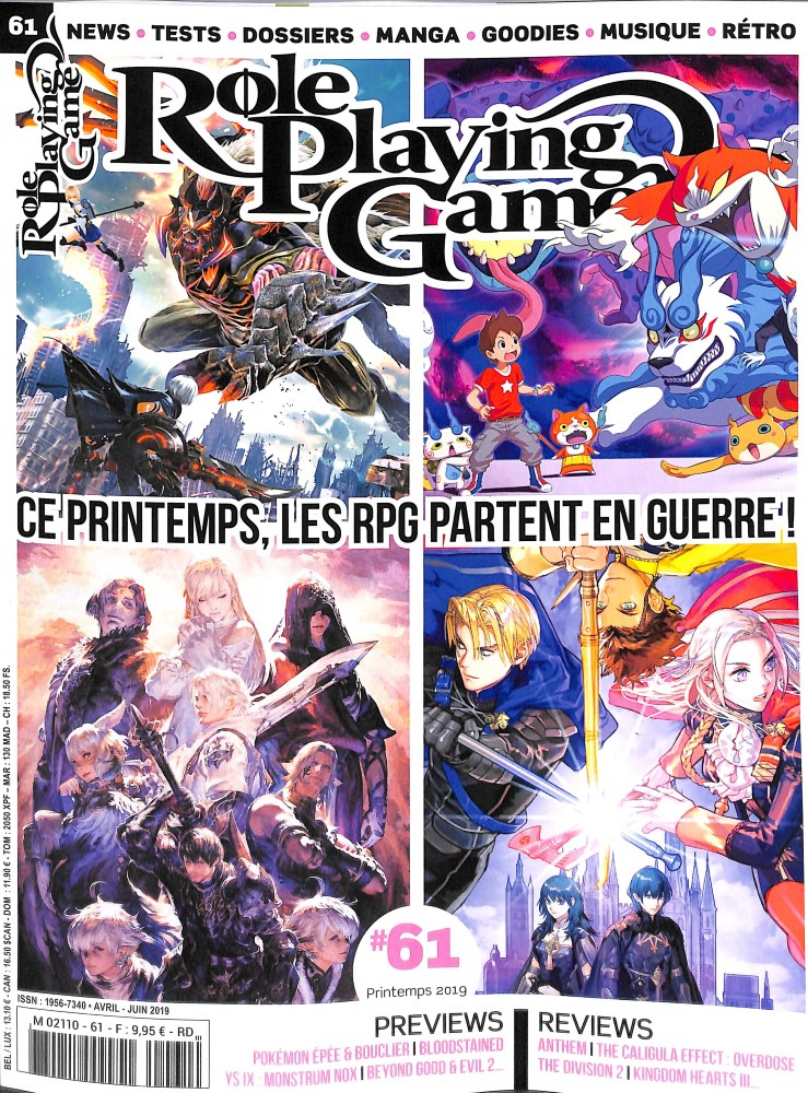 Role Playing Game N° 61 Avril 2019