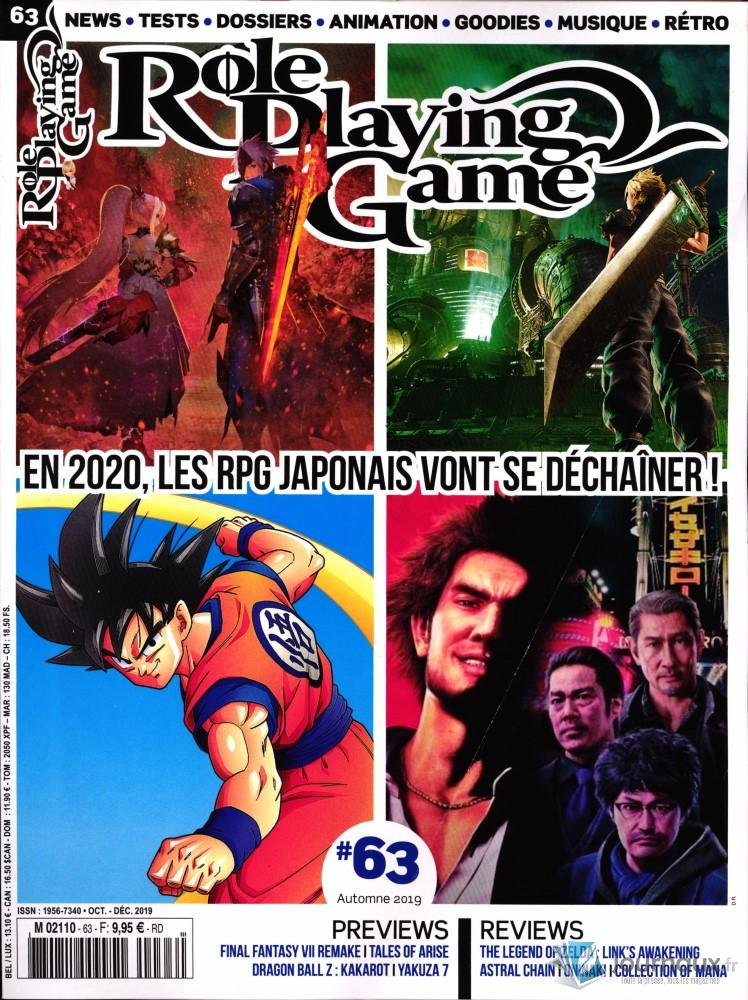 Role Playing Game N° 63 Octobre 2019