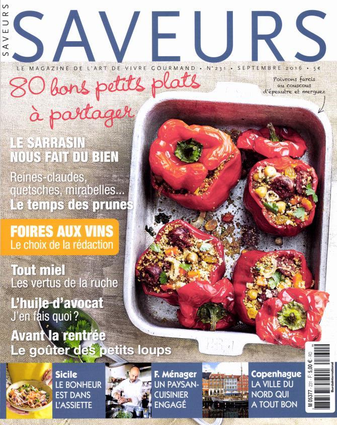 Abonnement saveurs presse de france for Abonnement cuisine et vins de france