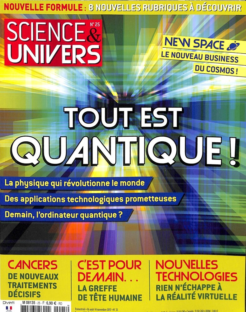 Science et univers N° 25 Août 2017