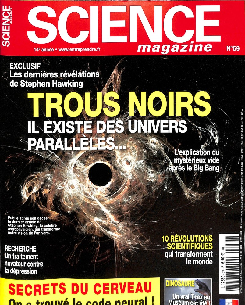Science Magazine N° 59 July 2018