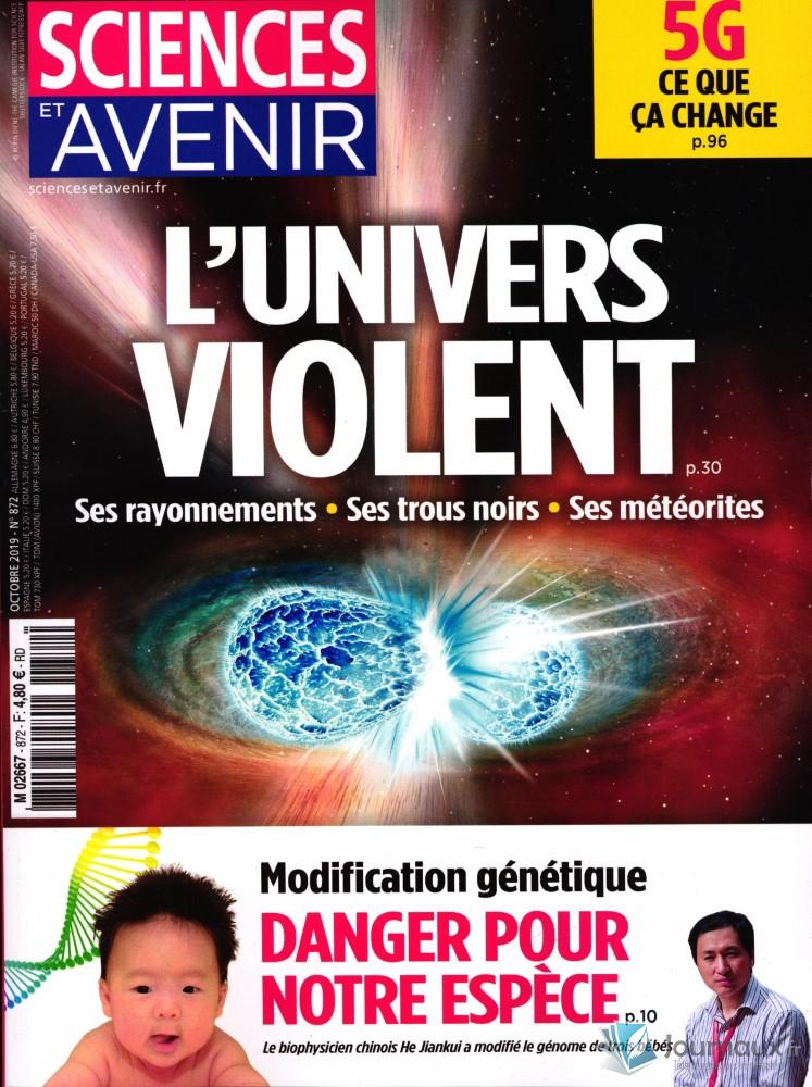 Sciences et Avenir N° 872 Septembre 2019