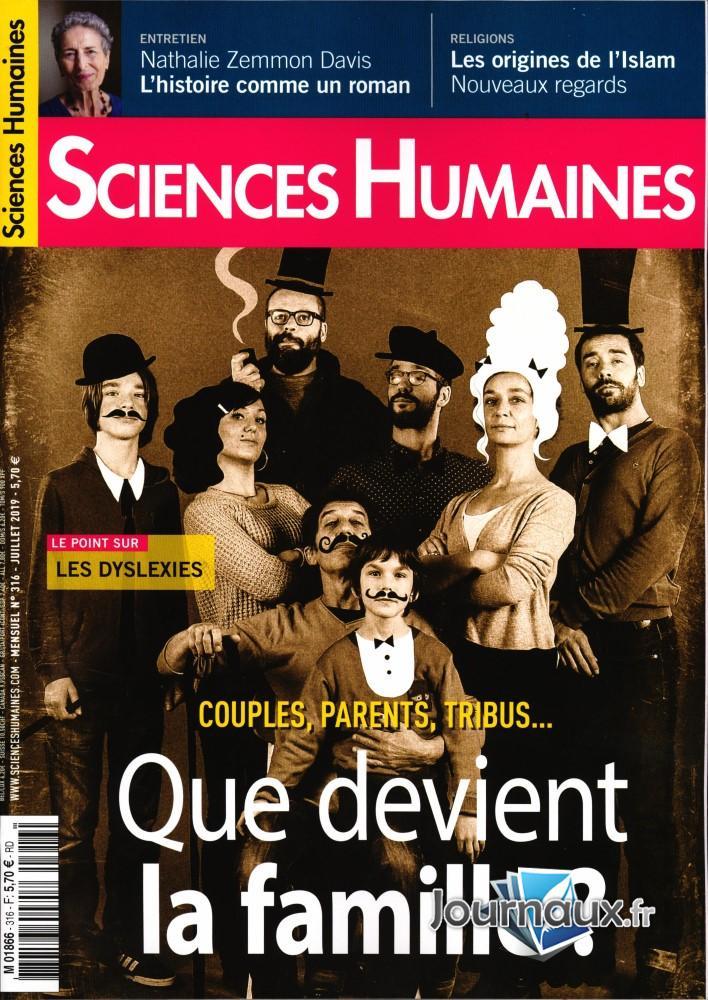 Sciences humaines N° 322 Janvier 2020