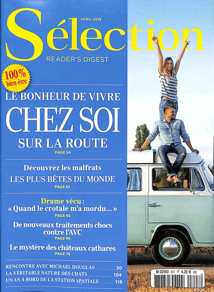 Sélection du Reader's Digest N° 847 Mars 2019