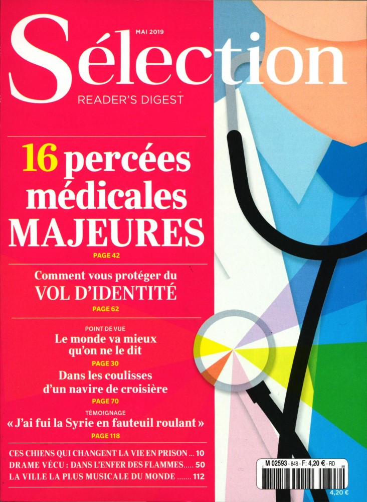 Sélection du Reader's Digest N° 848 Mai 2019