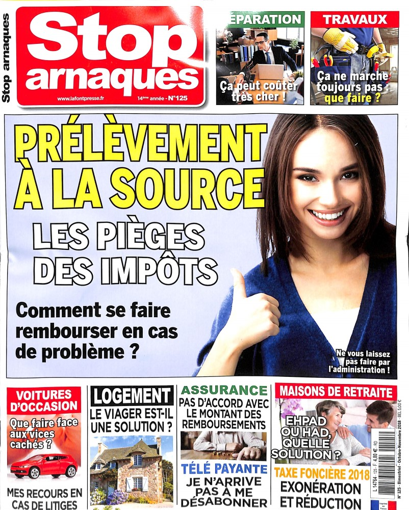Stop Arnaques N° 125 September 2018
