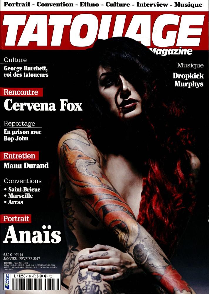 Tatouage magazine N° 114 Décembre 2016