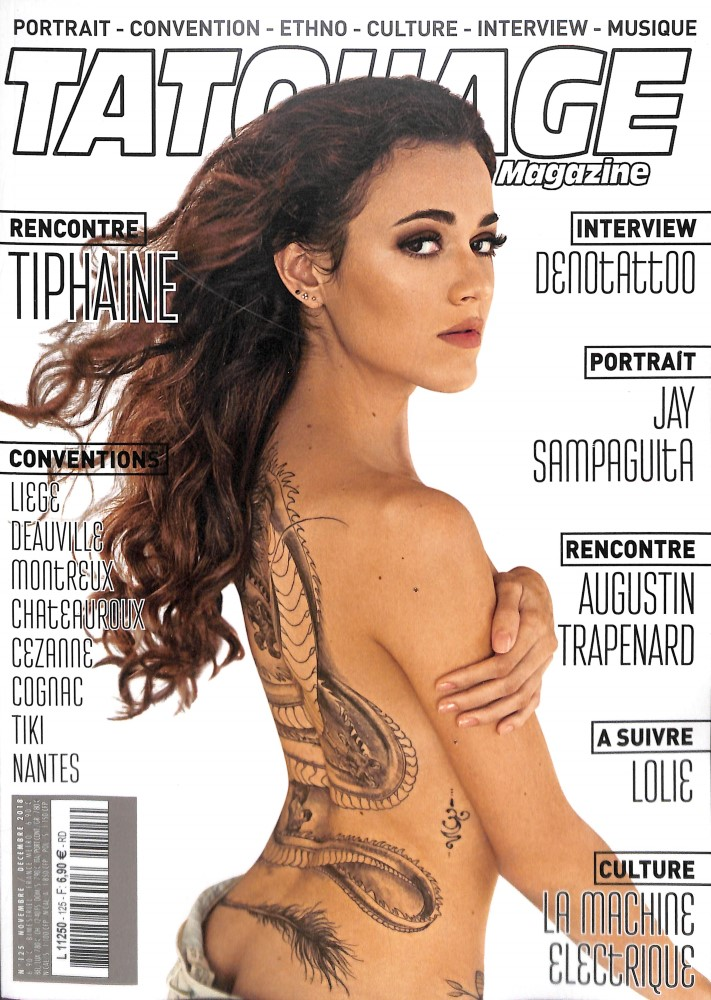 Tatouage magazine N° 125 October 2018