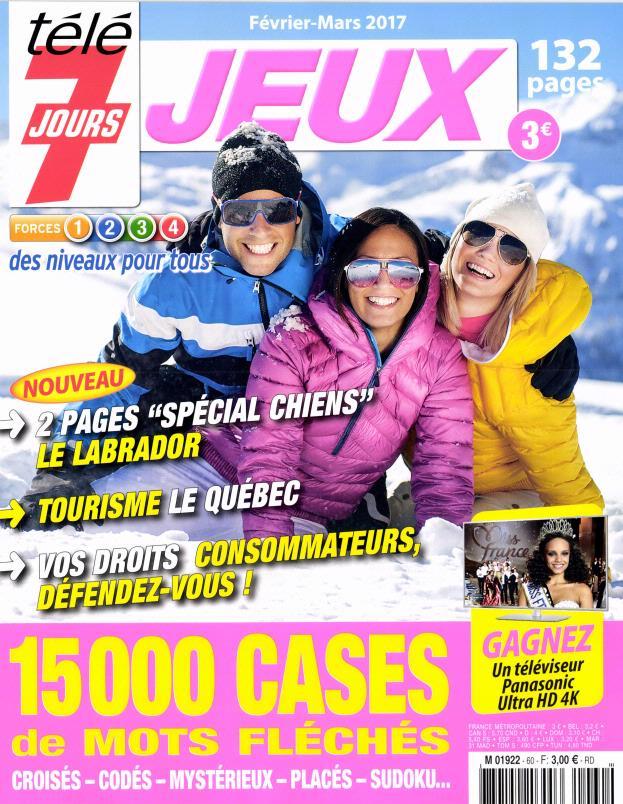 Télé 7 Jours Jeux N° 60 Janvier 2017
