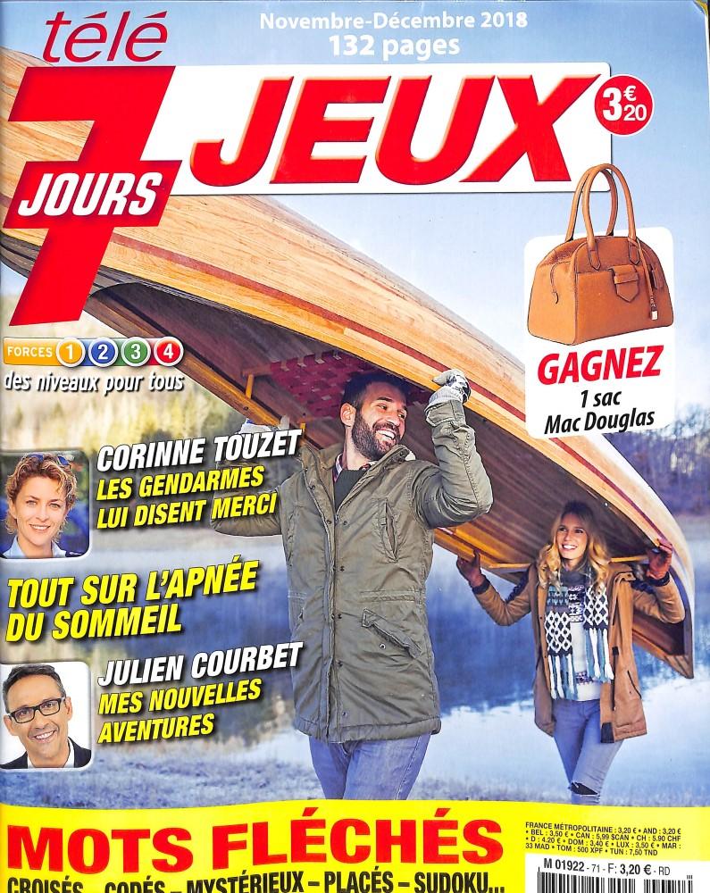 Télé 7 Jours Jeux N° 71 November 2018