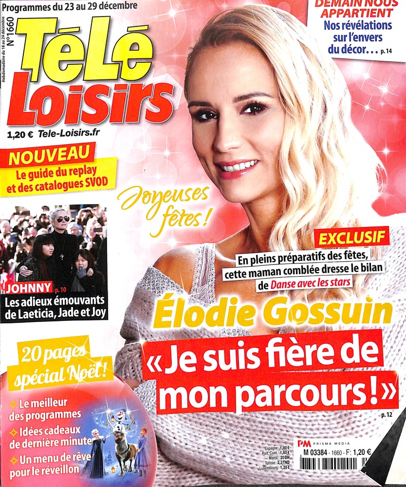 Télé Loisirs N° 1716 Janvier 2019