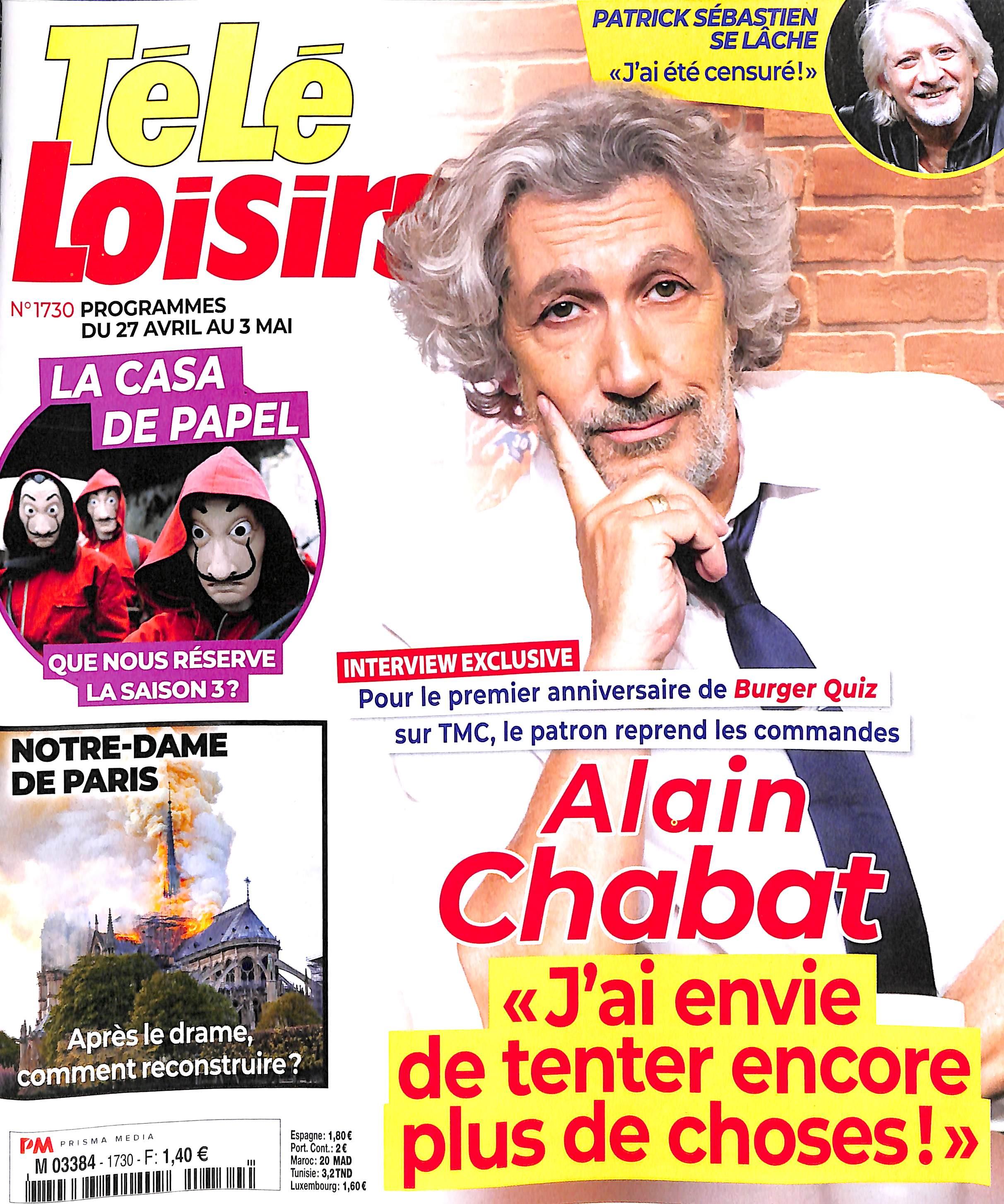Télé Loisirs N° 1730 Avril 2019