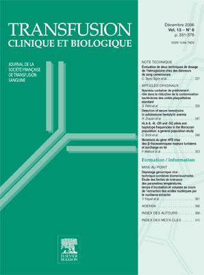 Transfusion clinique et biologique