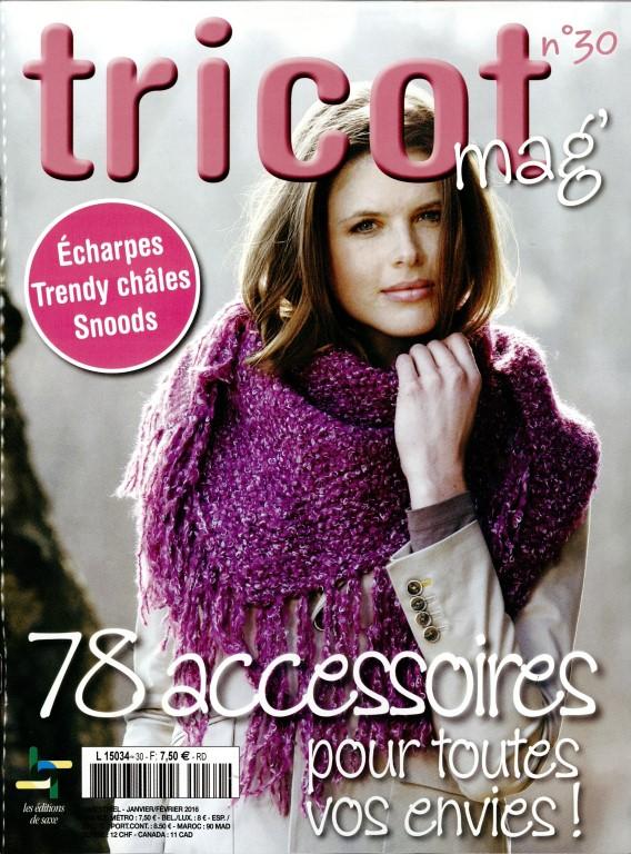 Tricot mag n° 30 - Abonnement Tricot mag   Abonnement magazine par Toutabo.com