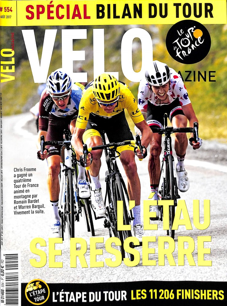 Vélo Magazine N° 554 Juillet 2017
