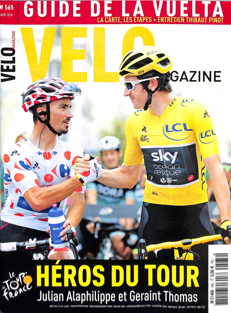 Vélo Magazine N° 565 August 2018