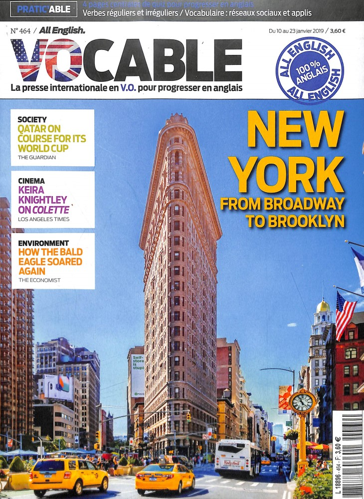 Vocable All English N° 480 Octobre 2019