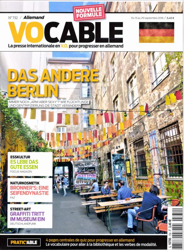 Vocable Allemand N° 780 October 2018