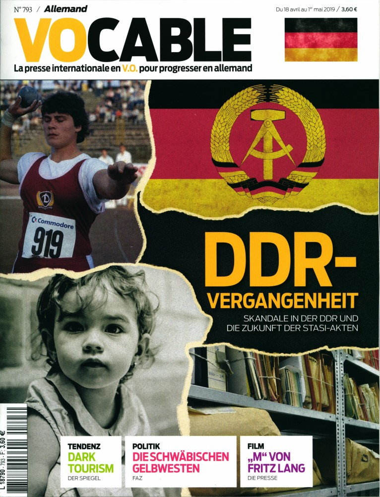 Vocable Allemand N° 793 Avril 2019