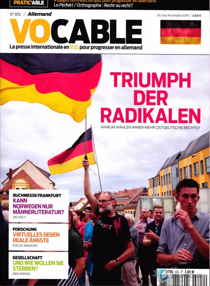 Vocable Allemand N° 802 Octobre 2019
