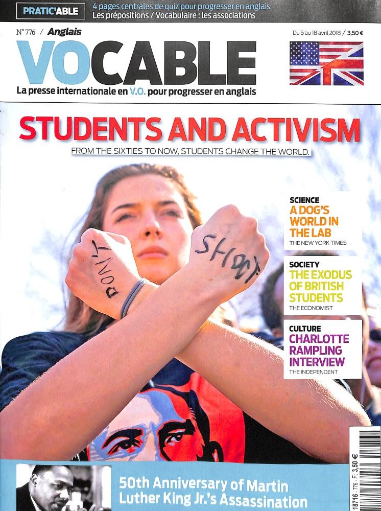 Vocable Anglais N° 777 April 2018