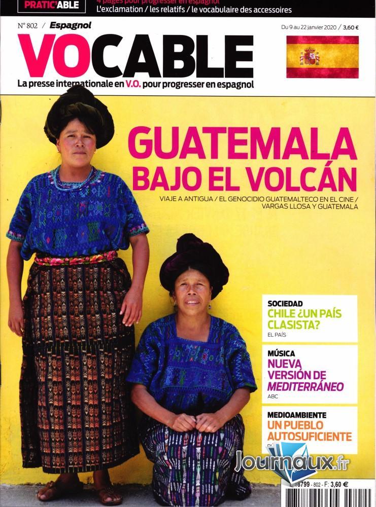 Vocable Espagnol N° 802 Janvier 2020