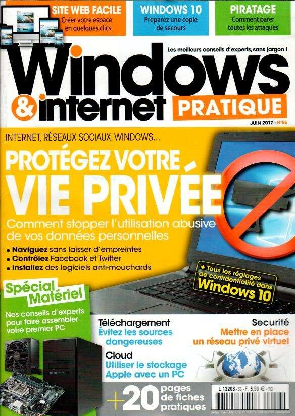 Windows et internet pratique N° 56 Mai 2017