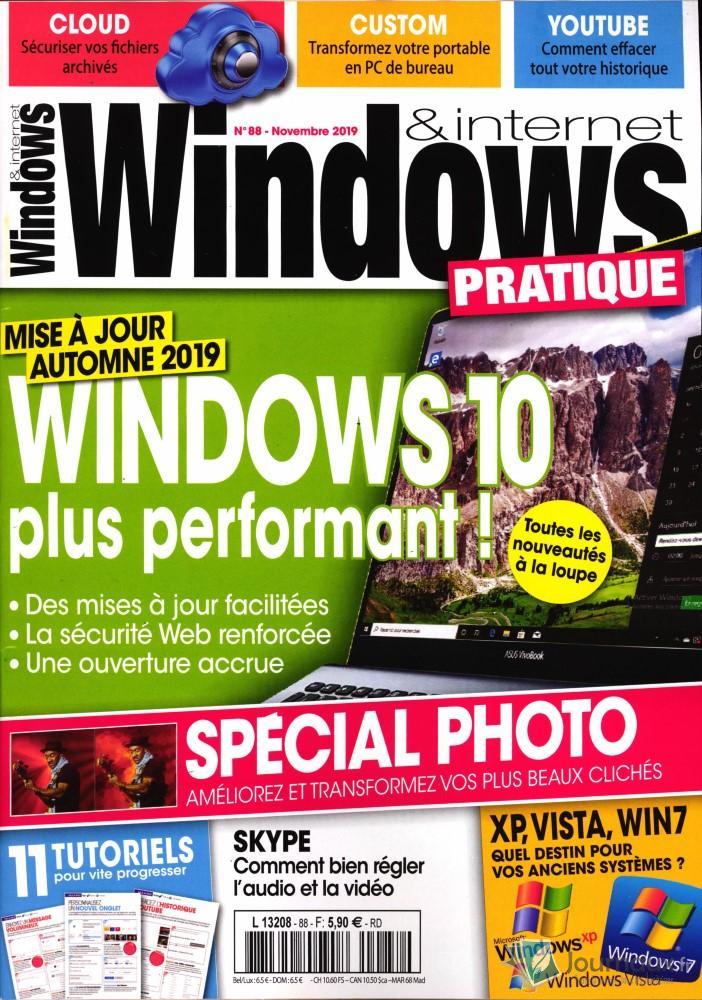 Windows et internet pratique N° 88 Octobre 2019