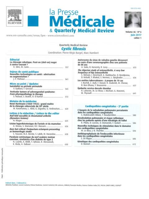 La presse médicale formation