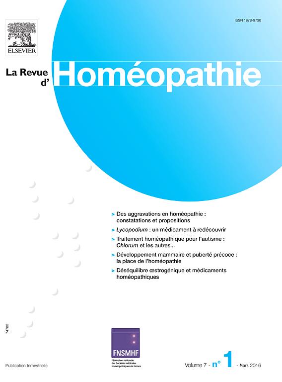 La revue d'homéopathie