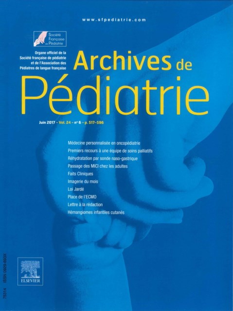 Archives de pédiatrie