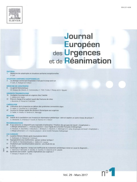 Journal européen des urgences et de réanimation
