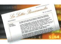 La lettre recommandée